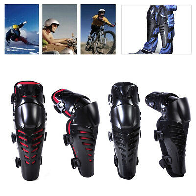 Fit for Bike Motorcycle Motocross: Pair Knee Protector Guard Pad Shin Armor New