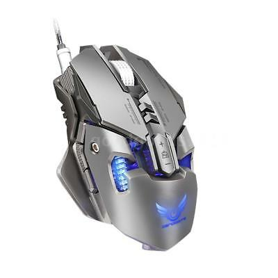 ZERODATE USB Wired Mechanische Gaming Mäuse Einstellbar 4000DPI 7Tasten LED U3O5