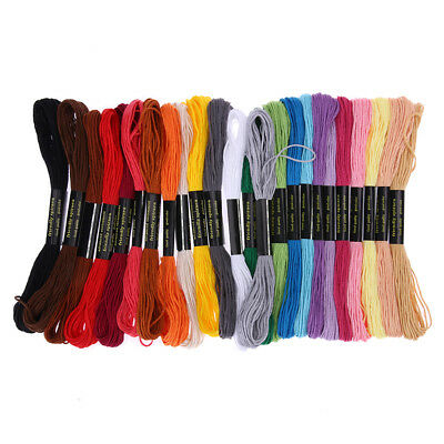 24 Colors Embroidery Thread Hand Cross Stitch Floss Sewing Skeins Craft TN2F