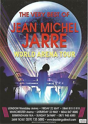 Jean Michel Jarre       UK / World Arena Tour 2009        Promo Flyer / Handbill