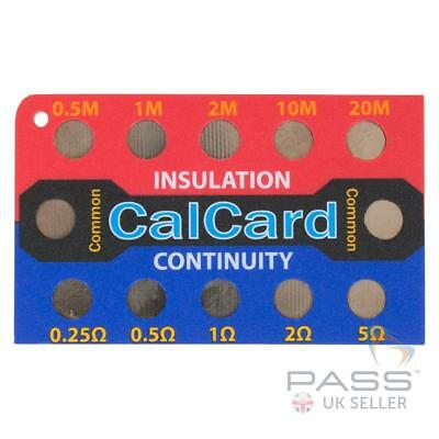 *NEW* NICEIC - CalCard Calibration Checkbox Insulation Resistance Continuity