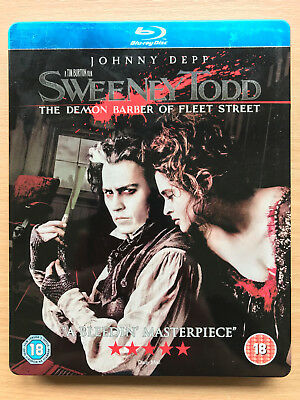 johnny depp SWEENEY TODD ~2007 Musical classique RARE UK BLU-RAY STEELBOOK