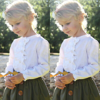 AU Toddler Kids Baby Girls Tops T-shirt+ Skirt Dresses 2pcs Outfits Clothes F