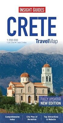 Insight Travel Map Crete *FREE SHIPPING - NEW*