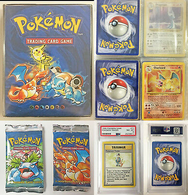 Pokemon - 4th Print Base Set 1999-2000 - Pack Fresh - PSA - 91 Cards - Charizard