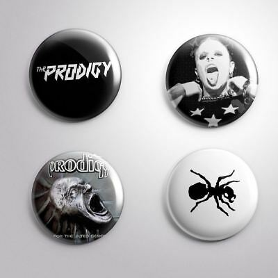 4 THE PRODIGY - Pinbacks Badge Button Pin 25mm 1''