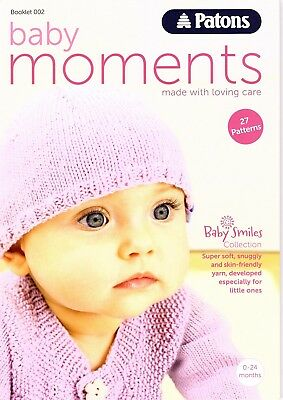 Patons Baby Knitting Patterns Book Space Story 10 Items Hoodie Hat Jacket Socks
