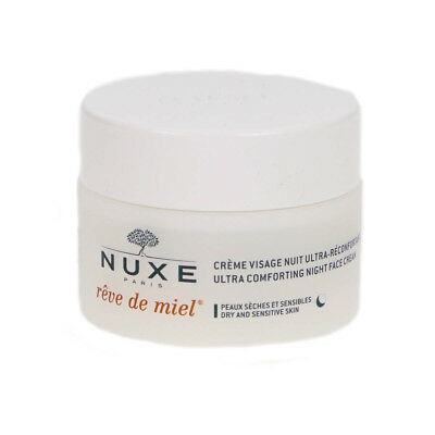 Nuxe Reve De Miel Night Face Cream Moisturiser For Dry Skin 50ml Damaged