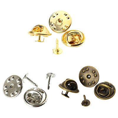 50 Set Tie Tacks Blank Pins with Butterfly Clutch Back Lapel Scatter Pin DIY