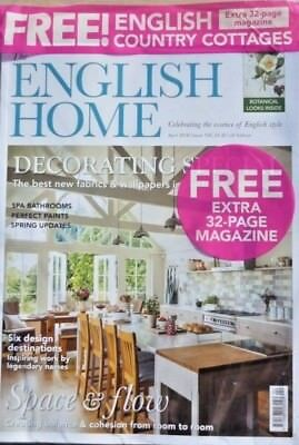 The English Home Magazine April 2018 ~ In Pack With Free Country Cottages Mag