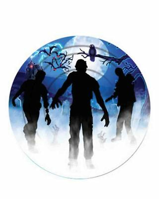 Zombie 23cm Plates Pack Of 8 One Size