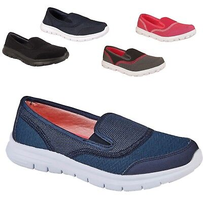 Ladies Womens Walking Slip On Get Fit To Go Fitness Memory Form Trainers Shoes
