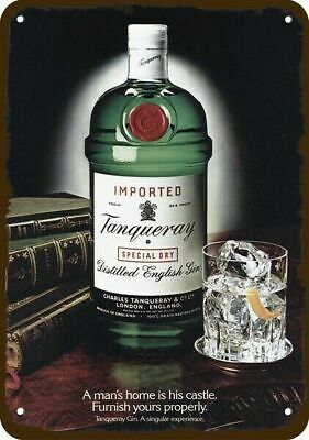 1981 TANQUERAY GIN Vintage Look REPLICA METAL SIGN - NOT ACTUAL GIN!