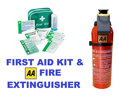 First Aid Kit in Nylon Case K306 & AA 950g Fry Powder Fire Extinguisher