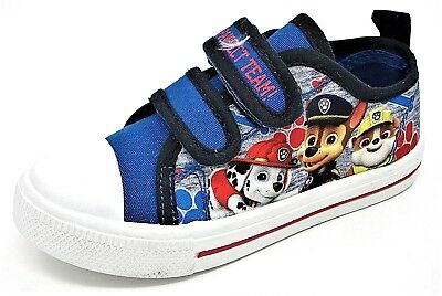 f86bfbc785210 BOYS PAW PATROL BALON Summer Low Top Canvas Pump Shoe Blue size 5,6 ...