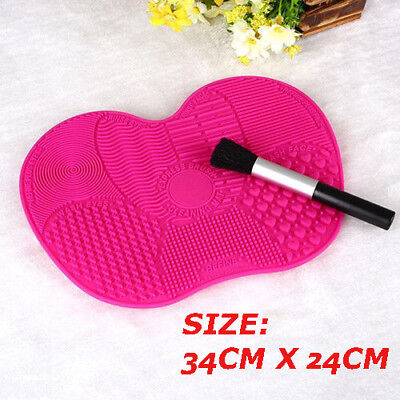 Silicone Makeup Brush Cleaner Cleaning Cosmetic Scrubber Board Pad Hand Tool Big