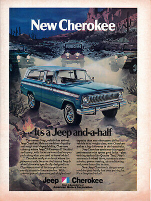 1974 AMC Cherokee-A Jeep And-A-Half -American Motors -Original Magazine Ad-4 WD