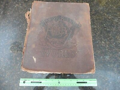 Vintage antique 1893 CA Gaskell Family & Business Atlas of the World John Waite
