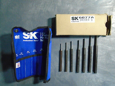SK Hand Tools 6077A 7 Piece Pin Punch Set