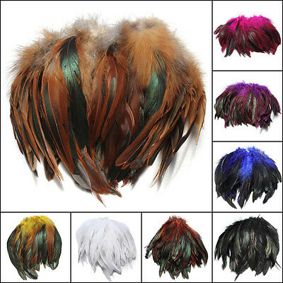 100pcs Fluffy Fashion Rooster Feather Craft DIY 6-8