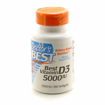 Best Vitamin D3 5000 IU By Doctor's Best - 180 Softgel Capsules