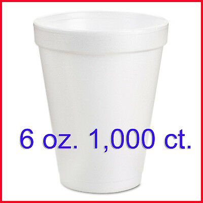 [No Tax] Dart Hot and Cold Foam Cups, 6 oz. (1,000 ct.)