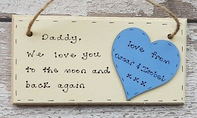 Fathers Day Gift For Dad Daddy Grandad Personalised Wooden Plaque Handmade