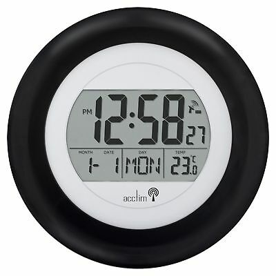 Acctim Circus Radio Controlled Date Temperature Wall Clock MSF Signal 74583 new