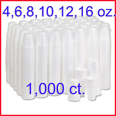 [NO Tax] Dart Hot and Cold Foam Cups, 1,000 ct. (4, 6, 8, 10, 12, 16)oz