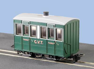 Glyn Valley Tramway 4 Wheel OO-9 Coach with Enclosed Sides Peco GR-500