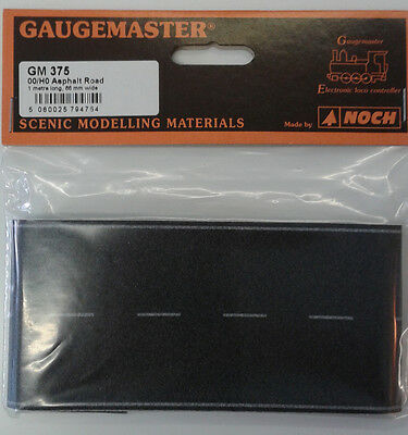 OO/HO 68mm Wide Self Adhesive Tarmac Road (1m) – Gaugemaster GM375 –