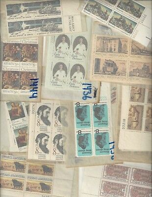 MNH US  MINT POSTAGE stamp lot collection 25 -  8 cent blocks of 4 = 100 stamps