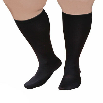 """Unisex Extra Wide Moderate Compression Knee High Socks -Up to XW / 4E & 26"""" Calf"""