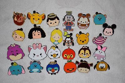 Disney trading pin lot 25 MOSTLY TSUM TSUM Marie Rapunzel Chip * as pictured *