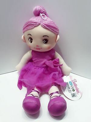 Toi-Toys Weichpuppe Puppe Stoffpuppe Ballerina lila 35cm Nr.01