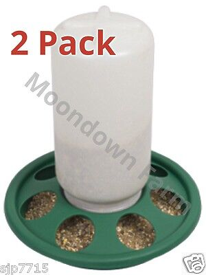 2 x Cage Feeders 1kg For Quail / Cage Birds / Aviary etc with Feeder Holes