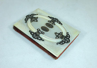 Extraordinary Notebook Book Pearl Silver France Switzerland um 1860