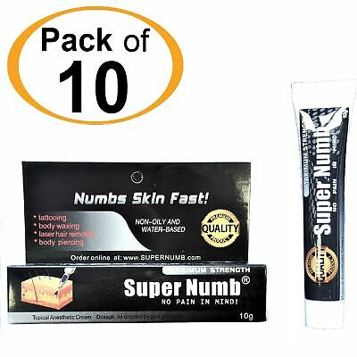 10g x 10Tube SUPER NUMB Numbing Cream Anesthetic Tattoo Piercing Waxing Laser Dr