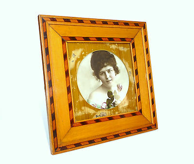 Gorgeous Photo Frame Picture Frame Frame with Inlaid um 1900 B-589
