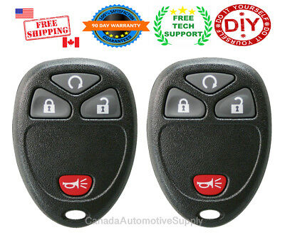2 New Replacement Keyless Remote Control 4 button Fits Chevy Buick GMC Pontiac