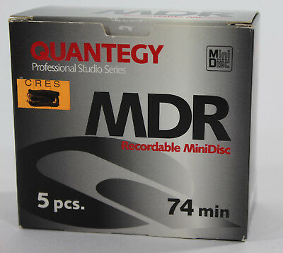 Quantegy MiniDiscs MDR Recordable MiniDiscs 74min Pack of 5 NEW~!!