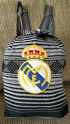 FC Real Madrid Soccer Mexican backpack handmade Indian tote bag