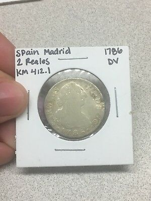 1786 Spanish 2 Reales - NO RESERVE