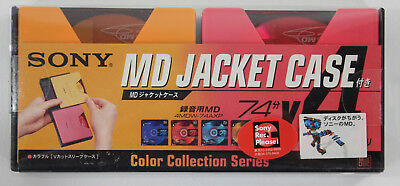 Sony MiniDisc MD Jacket Case Includes 4 74min MDs + Case Color Collection NEW~!!