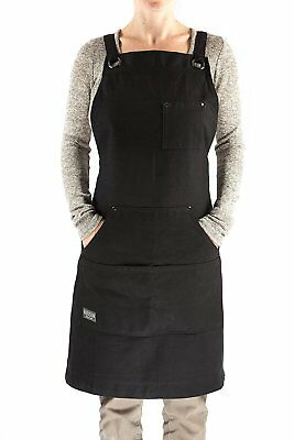 Home Work Apron Heavy Duty Waxed Canvas Work Apron with Tool Pockets Shop Apron