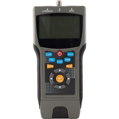 Pro Coax & Lan Cable Tester Locates Distance To The Fault