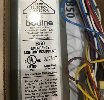 10 UNITS - Philips Bodine B50 Emergency Ballast  - New In Box