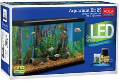 Aqua Culture Aquarium Starter Kit With LED, 29-Gallon