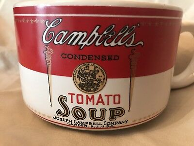 Vintage Campbell's Condensed Tomato Soup Cup Bowl Mug 1994 Westwood Collectible
