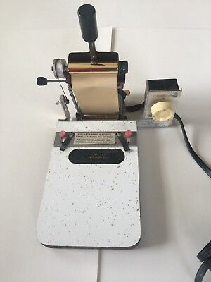 Vintage Gold Stamping Machine GS491 made by Veach Development Co.